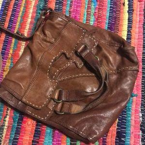 Leather boho style purse